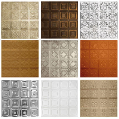 Sample Pack of 5 Shanko Tin Wall and Ceiling Tiles