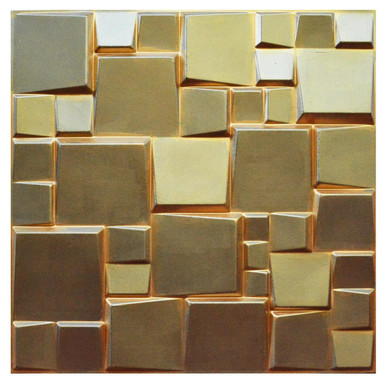 3D Wall Panels - Hand Painted Bamboo Pulp - (Pack of 24 - 64 sq. ft.) - #WPF-005