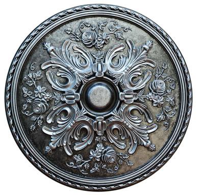 Snowed Tundra - FAD Hand Painted Ceiling Medallion - #CCMF-106-3