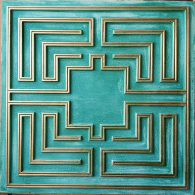Faux Tin Ceiling Tile - 24 in x 24 in  - #DCT 25
