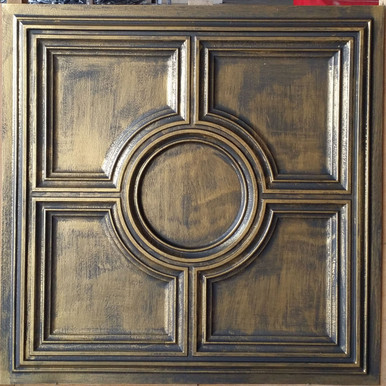 Faux Tin Ceiling Tile - 24 in x 24 in - #DCT 37