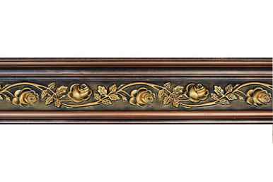 FAD Hand Painted Crown Molding Rose 6 11/6 inch - #CMF-012