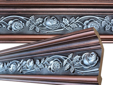 FAD Hand Painted Crown Molding Rose 6 11/6 inch - #CMF- 012 -2