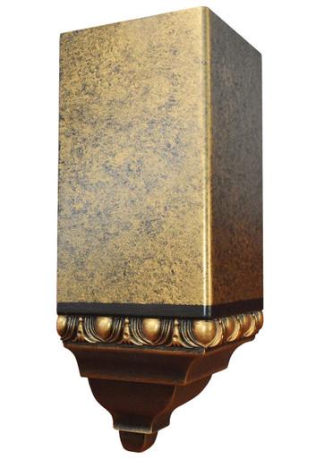 FAD Hand Painted Crown Molding - Inside Corner Block -#CMCBF-001