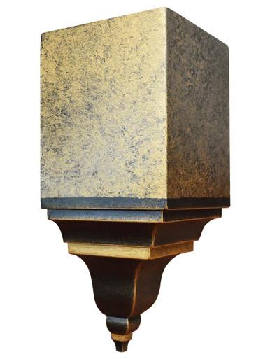 FAD Hand Painted Crown Molding - Inside Corner Block -#CMCBF-003