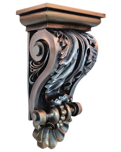 Acanthus Shell - FAD Hand Painted Corbel - #CF-010-2