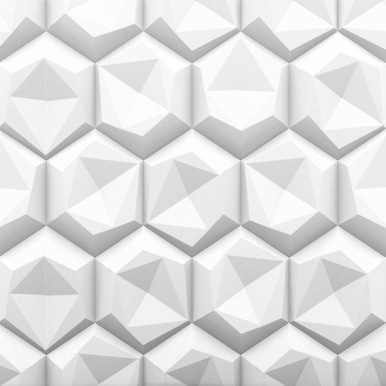 Hexagon 2ft. x 2ft. Seamless Glue-up Wall Panel (48 Sq. Ft. / Pack)