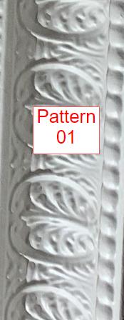 """Replicated Cornice White finish - 9""""X48"""" Cornice Pattern #1"""