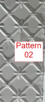 "Filler Replica White Finish - 24""X24"" Panel Pattern #2 & #6"