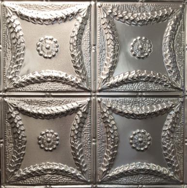 "Pattern Replica, Nail Up Panel, White Finish - 24""X24"" Panel12"" Repeat Similar to 0607"