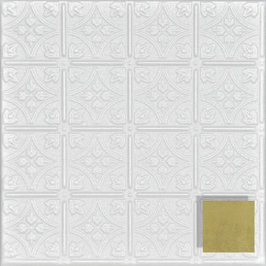 Emma's Flowers Glue-up Styrofoam Ceiling Tile 20 in x 20 in - #R125