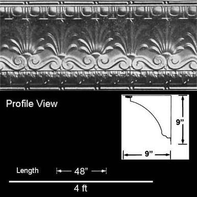 Royal Palms - Shanko - Powder Coated - Tin Cornice - #907