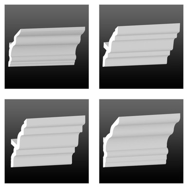 3-Pack of Foam Diy Vaulted Crown Moldings