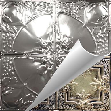 Poppy - Shanko - Hand Painted - Tin Ceiling Tile - #306