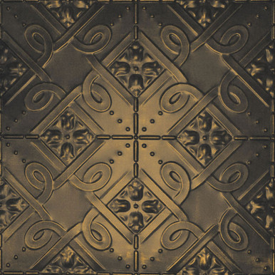 Soho - Shanko - Hand Painted - Tin Ceiling Tile - #304