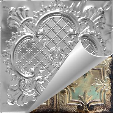 Lancelot - Shanko - Hand Painted - Tin Ceiling Tile - #500