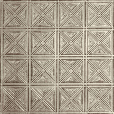 Criss-Cross - Shanko - Hand Painted - Tin Ceiling Tile - #205