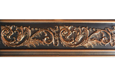 Foliage - FAD Hand Painted Flat Molding for Panel - Chair Rail - Casings - 96 in x 7 in x 1 in - FMF-011-2