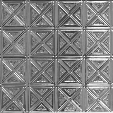 Criss-Cross - Shanko Tin Plated Steel Backsplash Tile - #205