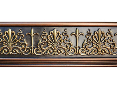 Monique - FAD Hand Painted Flat Molding for Panel - Chair Rail - Casings - 94-1/4 in x 7 in x 1 in - FMF-001