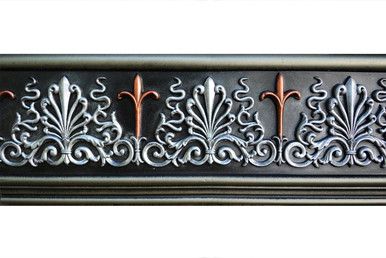 Monique - FAD Hand Painted Flat Molding for Panel - Chair Rail - Casings - 94-1/4 in x 7 in x 1 in - FMF-001-2