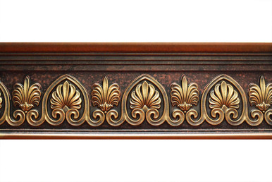 Scrollwork - FAD Hand Painted Flat Molding for Panel - Chair Rail - Casings - 96 in x 7-3/4 in x 1-1/2 in - FMF-043
