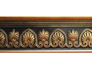 Scrollwork - FAD Hand Painted Flat Molding for Panel - Chair Rail - Casings - 96 in x 7-3/4 in x 1-1/2 in - FMF-043-2