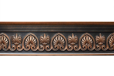 Scrollwork - FAD Hand Painted Flat Molding for Panel - Chair Rail - Casings - 96 in x 7-3/4 in x 1-1/2 in - FMF-043-3