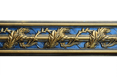 Southhampton Acanthus Leaf - FAD Hand Painted Flat Molding for Panel - Chair Rail - Casings - 94-1/4 in x 4-3/8 in x 1 in - FMF-013-2