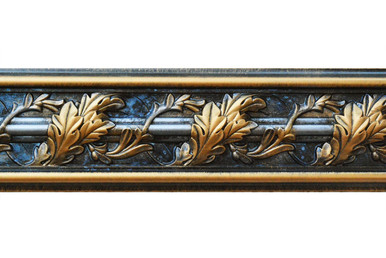 Southhampton Acanthus Leaf - FAD Hand Painted Flat Molding for Panel - Chair Rail - Casings - 94-1/4 in x 4-3/8 in x 1 in - FMF-013-2A