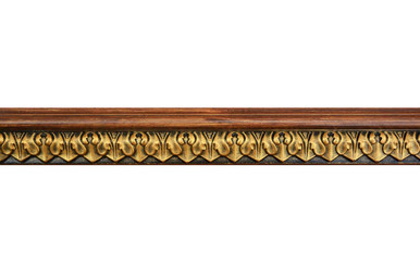 Blackthorne Acanthus Leaf - FAD Hand Painted Flat Molding for Panel - Chair Rail - Casings - 96 in x 2 in x 3/4 in - FMF-010