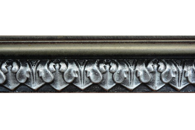 Blackthorne Acanthus Leaf - FAD Hand Painted Flat Molding for Panel - Chair Rail - Casings - 96 in x 2 in x 3/4 in - FMF-010-2