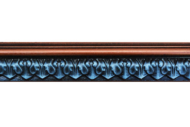 Blackthorne Acanthus Leaf - FAD Hand Painted Flat Molding for Panel - Chair Rail - Casings - 96 in x 2 in x 3/4 in - FMF-010-4