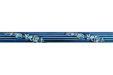 Foliage - FAD Hand Painted Flat Molding for Panel - Chair Rail - Casings - 96 in x 1-3/4 in x 1 in - FMF-022-3