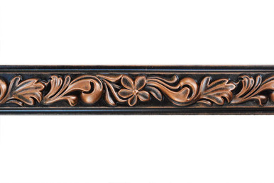 Foliage - FAD Hand Painted Flat Molding for Panel - Chair Rail - Casings - 94 1/4 in x 2 in x 3/4 in - FMF-002
