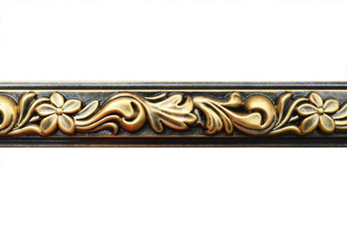 Foliage - FAD Hand Painted Flat Molding for Panel - Chair Rail - Casings - 94 1/4 in x 2 in x 3/4 in - FMF-002-2