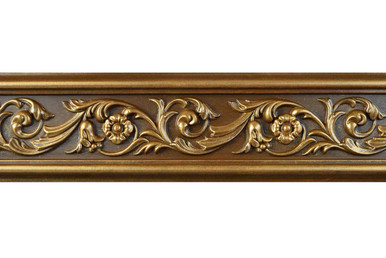 Foliage - FAD Hand Painted Flat Molding for Panel - Chair Rail - Casings - 94 1/2 in x 4 3/8 in x 3/4 in - FMF-003
