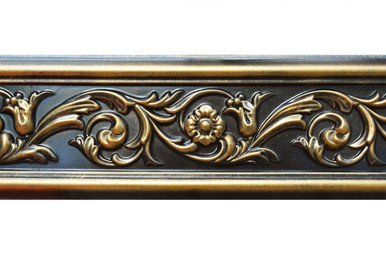 Foliage - FAD Hand Painted Flat Molding for Panel - Chair Rail - Casings - 94 1/2 in x 4 3/8 in x 3/4 in - FMF-003-2
