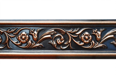 Foliage - FAD Hand Painted Flat Molding for Panel - Chair Rail - Casings - 94 1/2 in x 4 3/8 in x 3/4 in - FMF-003-3