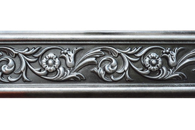 Foliage - FAD Hand Painted Flat Molding for Panel - Chair Rail - Casings - 94 1/2 in x 4 3/8 in x 3/4 in - FMF-003-4