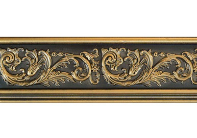 Foliage - FAD Hand Painted Flat Molding for Panel - Chair Rail - Casings - 94 1/2 in x 4 3/8 in x 3/4 in - FMF-011