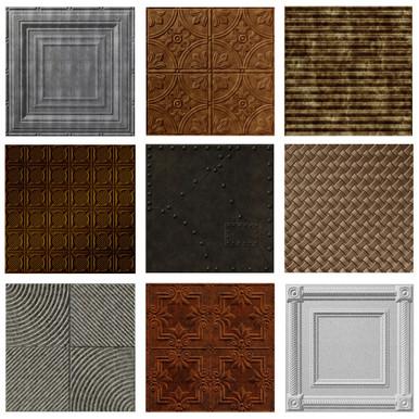 Metallic Finish - MirroFlex - 24 in x 24 in - Glue Up / Drop In - PVC - Ceiling Tile Sample