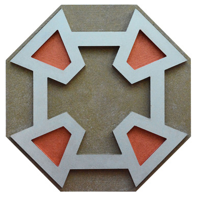 Concentric Corners - FAD Hand Painted Contemporary Ceiling Medallion - #CCMF-182