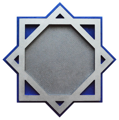 Square Balance - FAD Hand Painted Contemporary Ceiling Medallion - #CCMF-180
