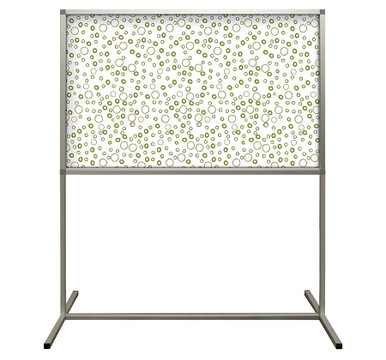 Deco Defender - Fusion - 32 in x 48 in / 48 in x 48 in - LuxCorePlus - Bamboo Rings - Protective Partitions / Barriers
