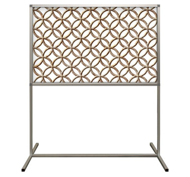 Deco Defender - Fusion - 32 in x 48 in / 48 in x 48 in - LuxCorePlus - Carved Stone - Protective Partitions / Barriers