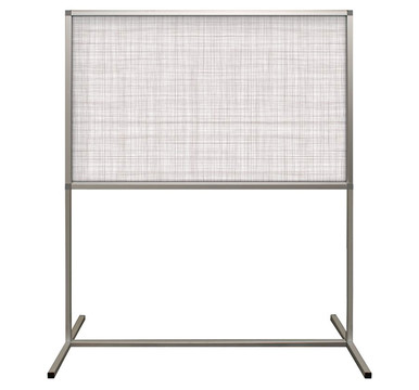 Deco Defender - Fusion - 32 in x 48 in / 48 in x 48 in - LuxCorePlus - Line Open Weave - Protective Partitions / Barriers