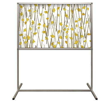 Deco Defender - Fusion - 32 in x 48 in / 48 in x 48 in - LuxCorePlus - Gingko Yellow Weathered - Protective Partitions / Barriers