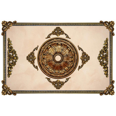 FAD Hand Painted Ceiling & Wall Design - #CWDF-002-OG