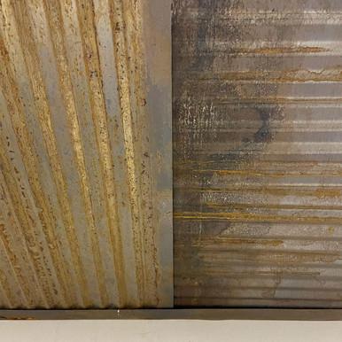 Dakota Tin - 96 in. Colorado Rustic Steel - Peel and Stick Grid Covers